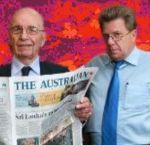 Rupert Murdoch (left) and Chris Mitchell.