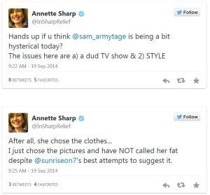 Sharp tweets
