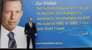 Abbotts lies and promises